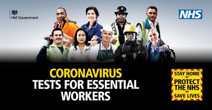 Coronavirus Tests for Essential Workers