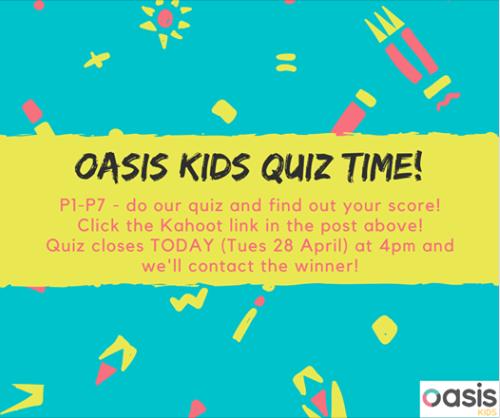 Oasis Kids Quiz Time