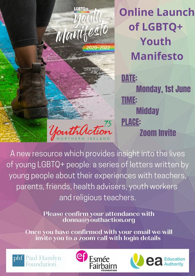 Online Launch LGBTQ+ Youth Manifesto