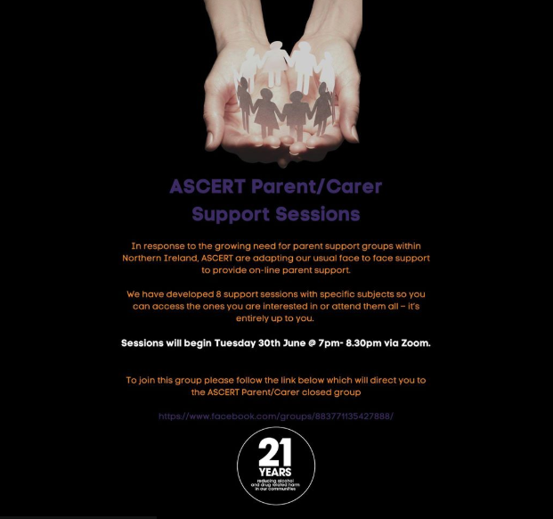 Ascert Parent/Carer Support Sessions
