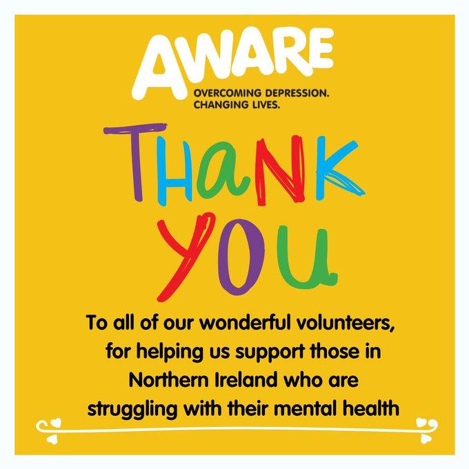 Thank you AWARE Volunteers