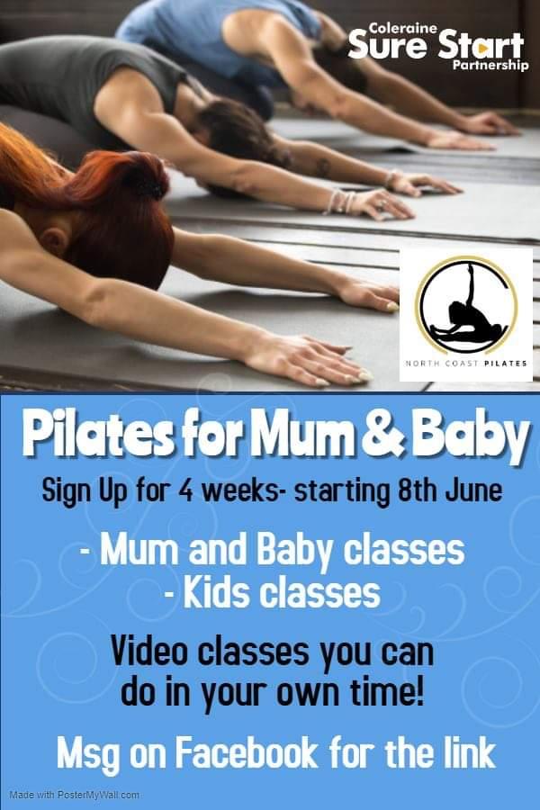 Coleraine Sure Start – Pilates for mum and baby