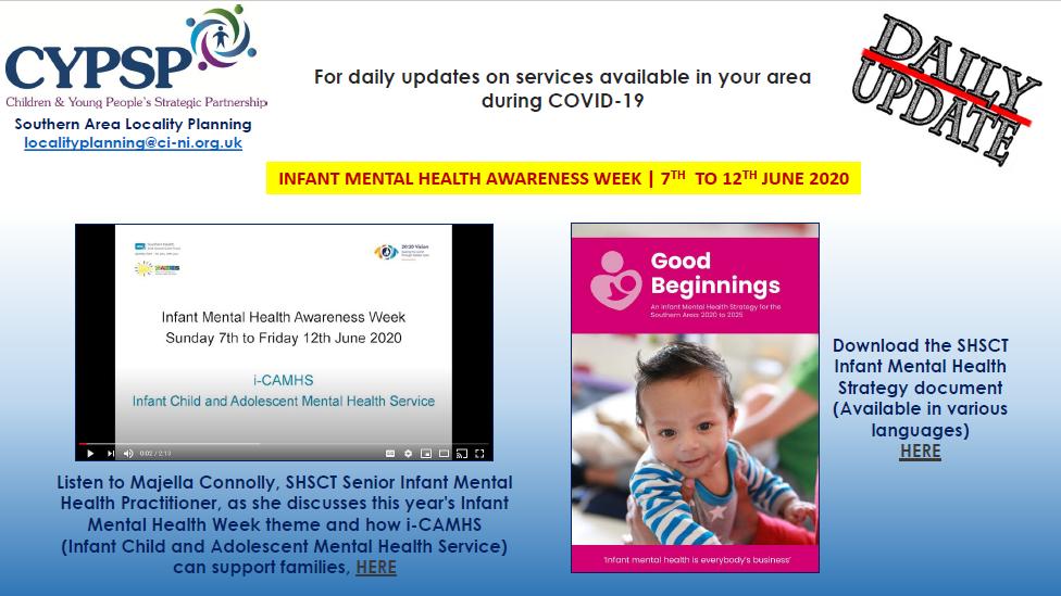 Infant Mental Health Awareness Week 2020 – 7th to 12th June