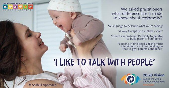 Babies love to talk!