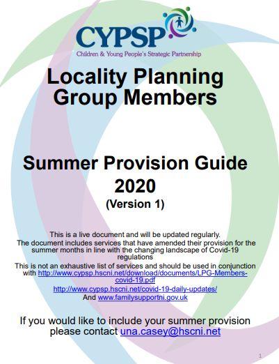 LPG Members Summer Provision