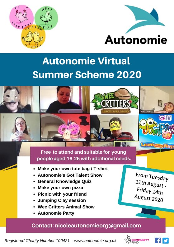 Autonomie Virtual Summer Scheme