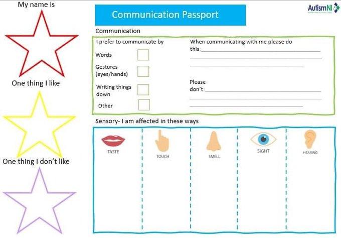 Autism NI – Communication Passport