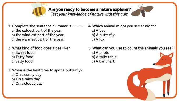 BBC Bitesize Summer Nature Challenge day